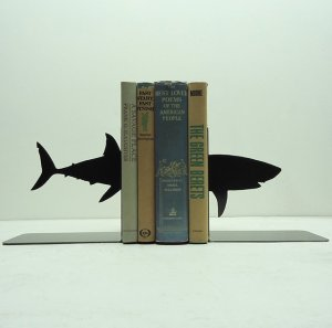Shark-Metal-Art-Bookends